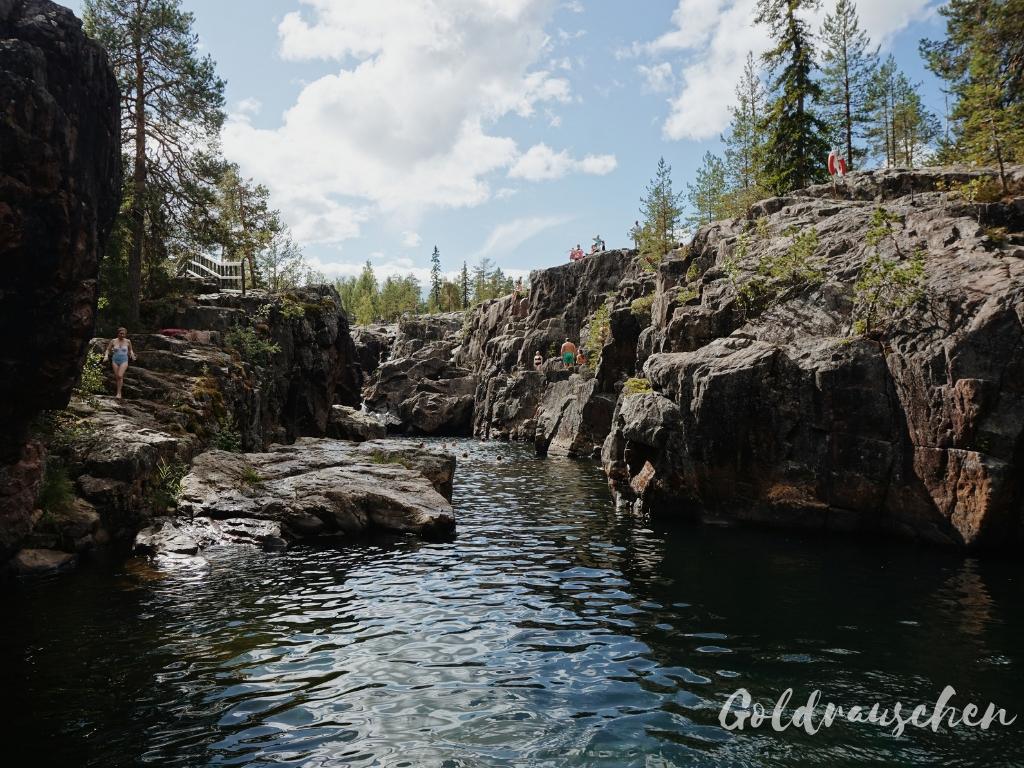 Storsforsen Stromschnellen in Lappland